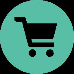 丸枠付きショッピングカートのアイコン素材 6 Aquamunda